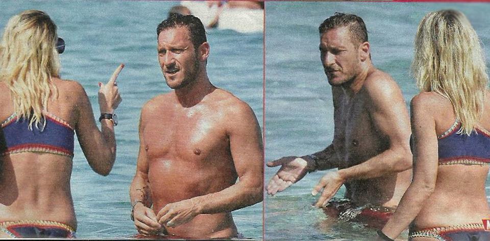 Ilary Blasi e Francesco Totti vacanza litigarella a Porto Cervo: lei lo sgrida, lui fa spallucce