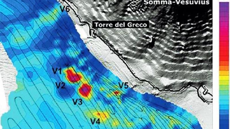 Scoperti nelle acque del Golfo di Napoli sei vulcani sottomarini