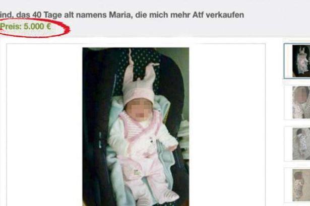 Neonata di 40 giorni in vendita su eBay: prezzo d'asta 5.000 euro