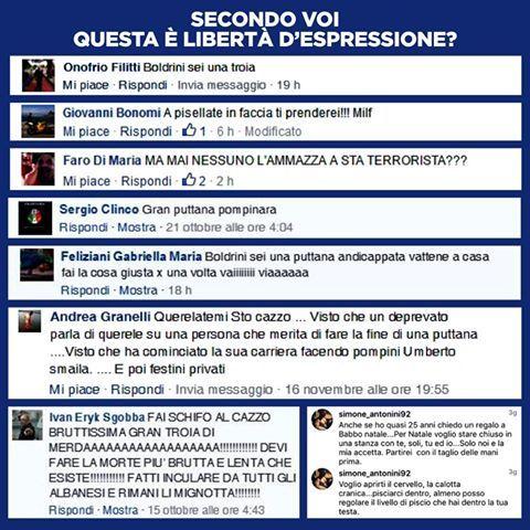 Boldrini-choc su Facebook: