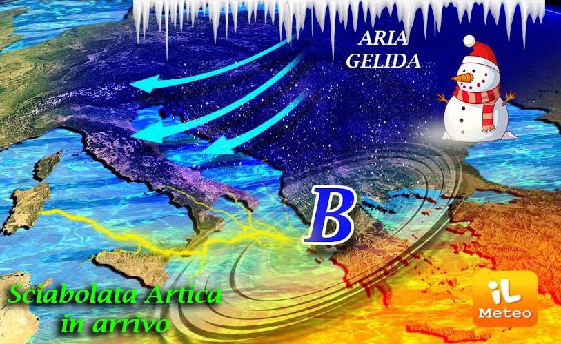 Meteo: freddo polare sull'Italia, crollo termico di 10°C
