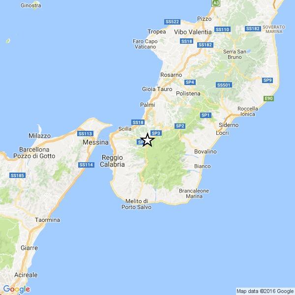 Scossa di terremoto magnitudo 3.2 nel reggino
