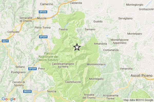 TERREMOTO OGGI MACERATA / Scossa magnitudo 3.8 a Ussita e Bolognola