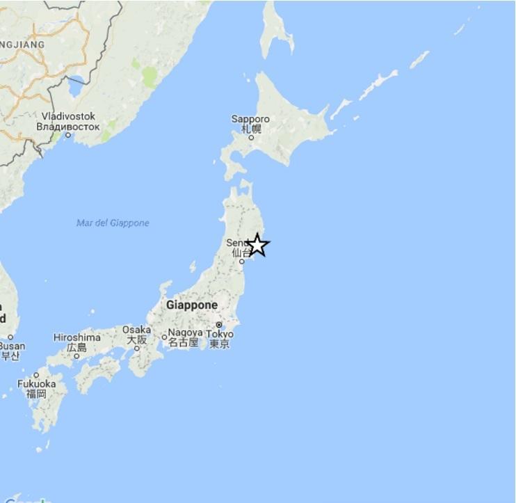 Forte scossa di terremoto sulla costa del Giappone [DATI]