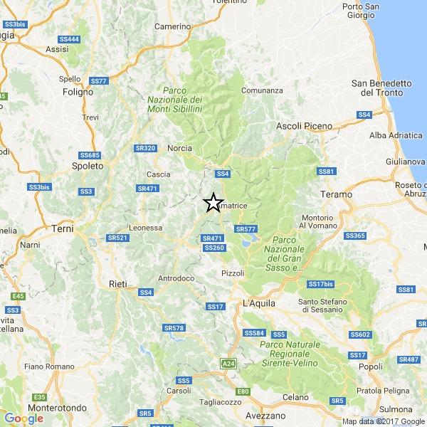 Terremoto nella notte tra Rieti e Amatrice