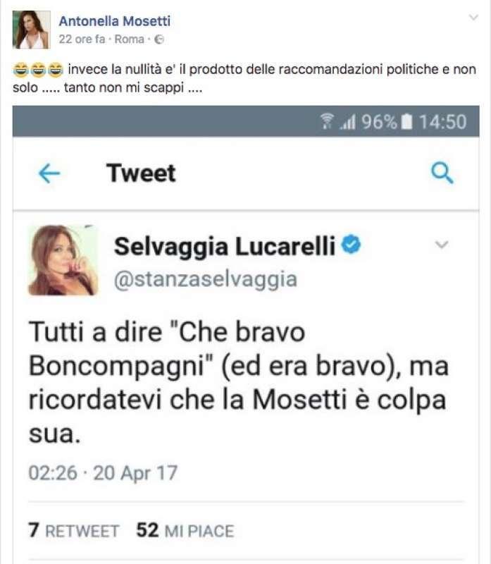 Selvaggia Lucarelli-Antonella Mosetti, è scontro furioso! Ecco cosa è successo