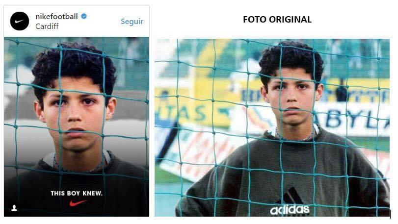 1c0bc8c9a9 Prendendo una vecchia foto di Cristiano