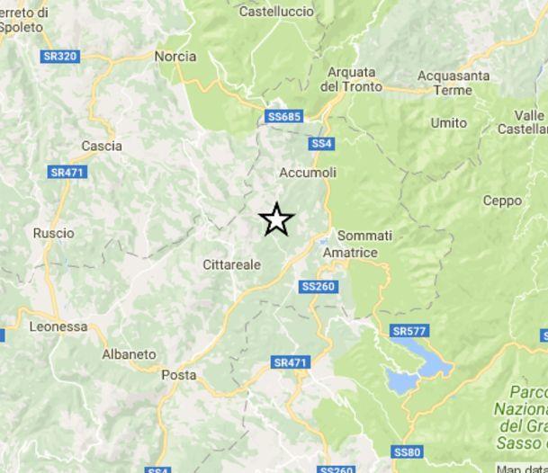 Terra la trema a Castelsantangelo sul Nera: scossa di magnitudo 3.5