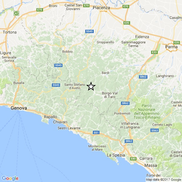 Terremoto, poco fa scosse tra Genova, Parma e La Spezia: magnitudo 3.5
