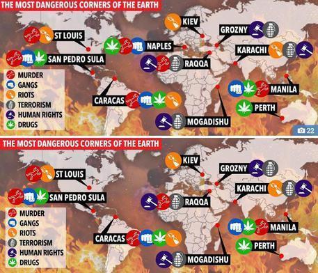 Napoli come Raqqa e Mogadiscio: le città più pericolose secondo il
