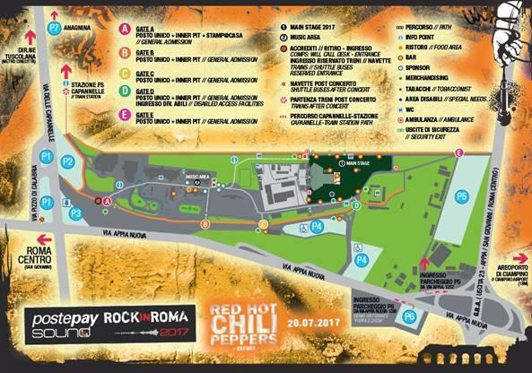 Concerto dei Red Hot Chili Peppers a Roma: info, orari e biglietti
