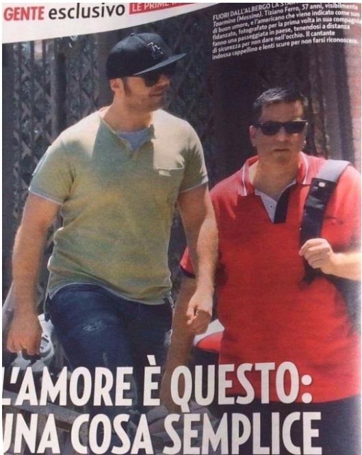 Tiziano Ferro a Taormina con il nuovo fidanzato?