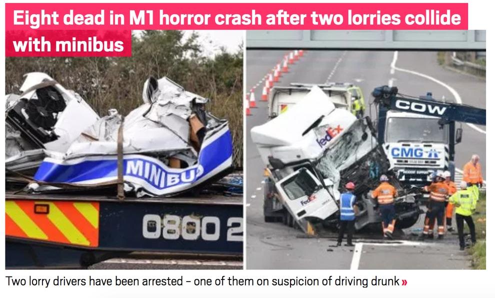 Tragico schianto in autostrada: 8 morti, 4 feriti.