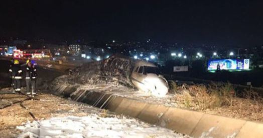 Jet Privato Caduto : Istanbul jet privato precipita e si incendia muore il
