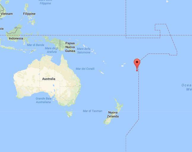 Oceania : forte scossa di terremoto a largo di Tonga [dati USGS]