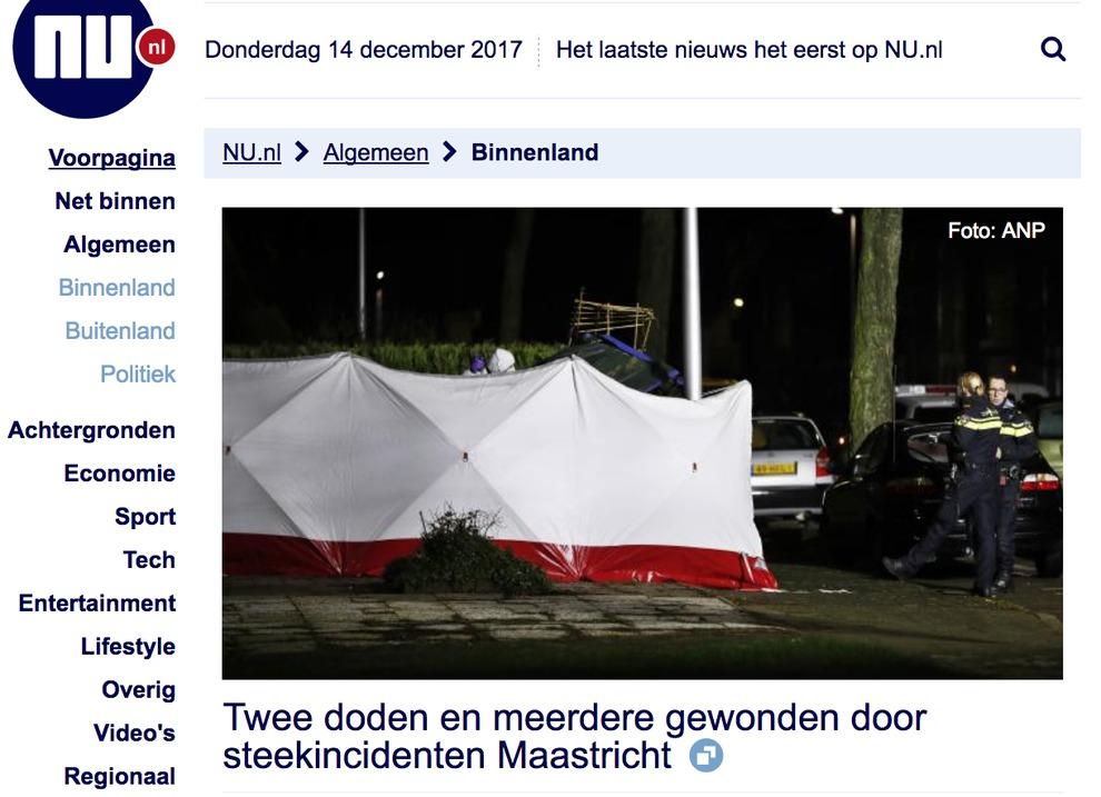 Olanda, polizia: due morti accoltellati e diversi feriti a Maastricht