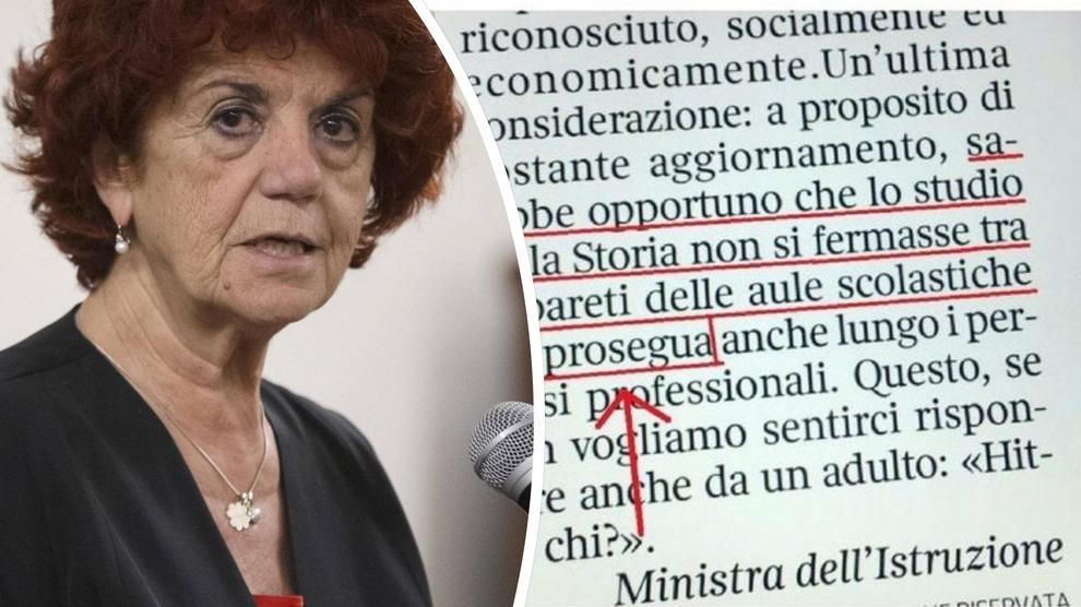 Nuovo strafalcione della ministra Fedeli: