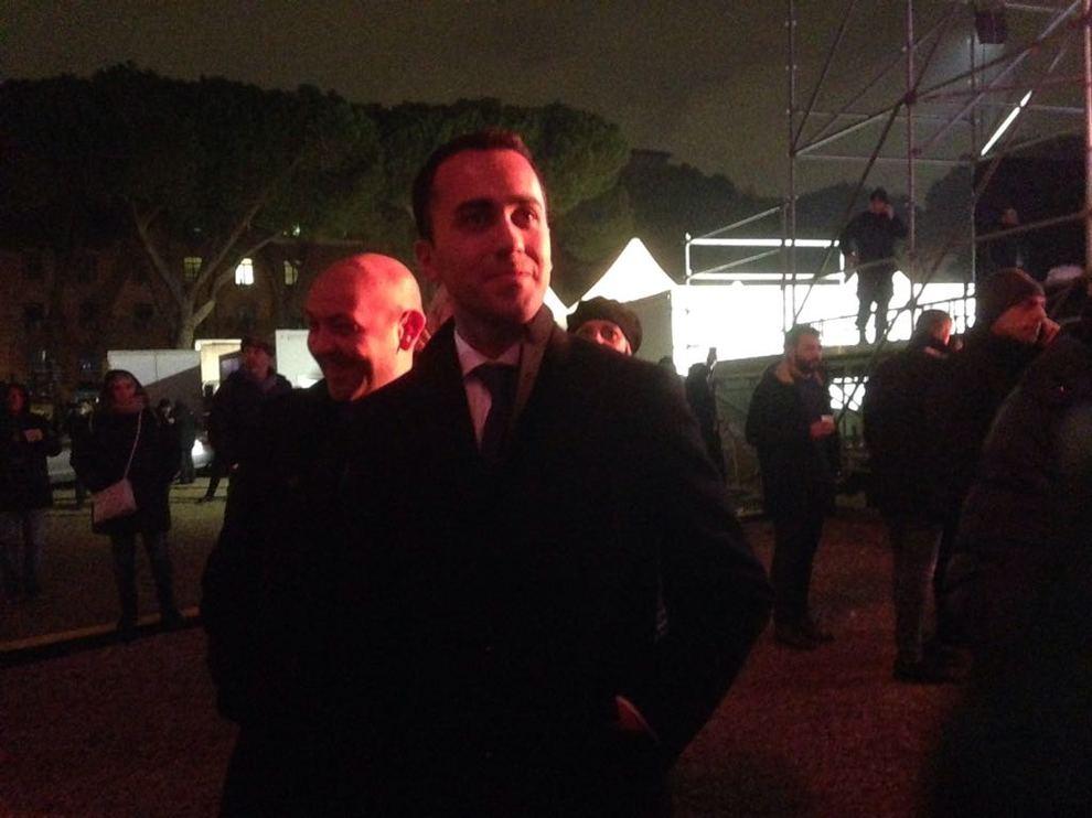 Luigi Di Maio al Capodanno di Roma al Circo Massimo