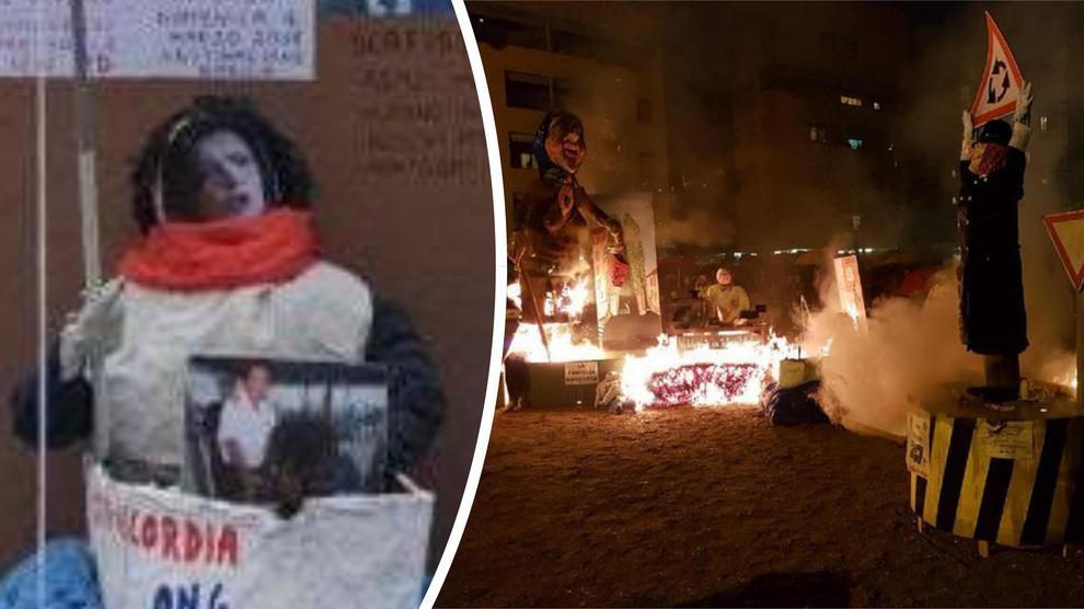 Fantoccio Boldrini bruciato, Grasso: