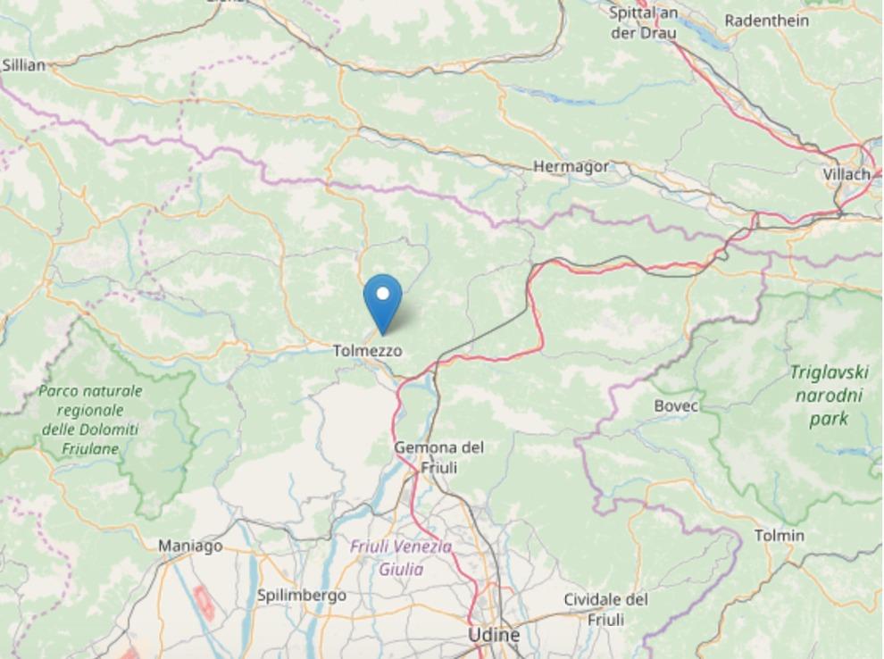 Terremoto oggi in Friuli Venezia Giulia: leggera scossa magnitudo 3.8 a Tolmezzo