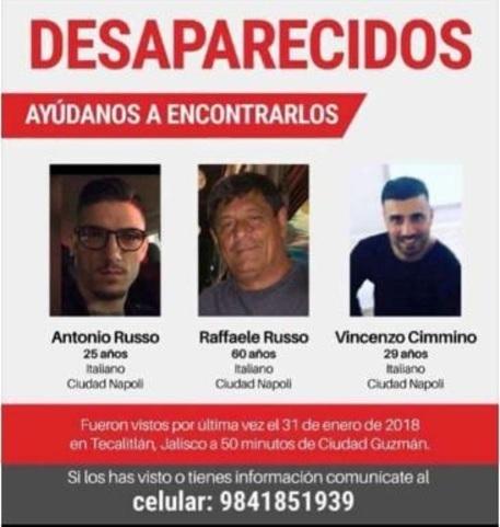 Italiani scomparsi in Messico, chiesti all'Italia i precedenti penali di sei cittadini