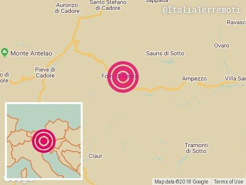 Terremoto oggi, 25 febbraio 2018: scossa di magnitudo 3.8