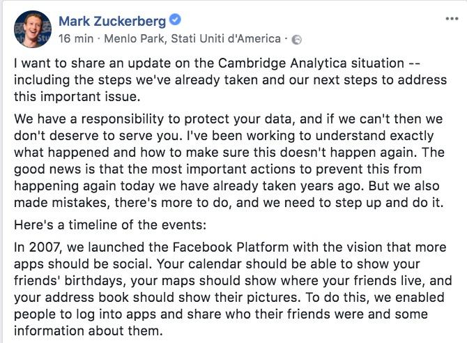 Profili usati per manipolazioni elettorali: Facebook travolto dallo scandalo