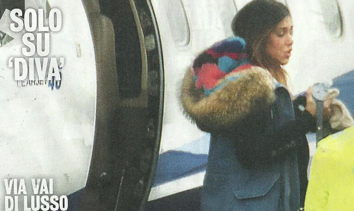 Aereo Privato Di Lusso : Belen e andrea iannone pendolari di lusso con l aereo