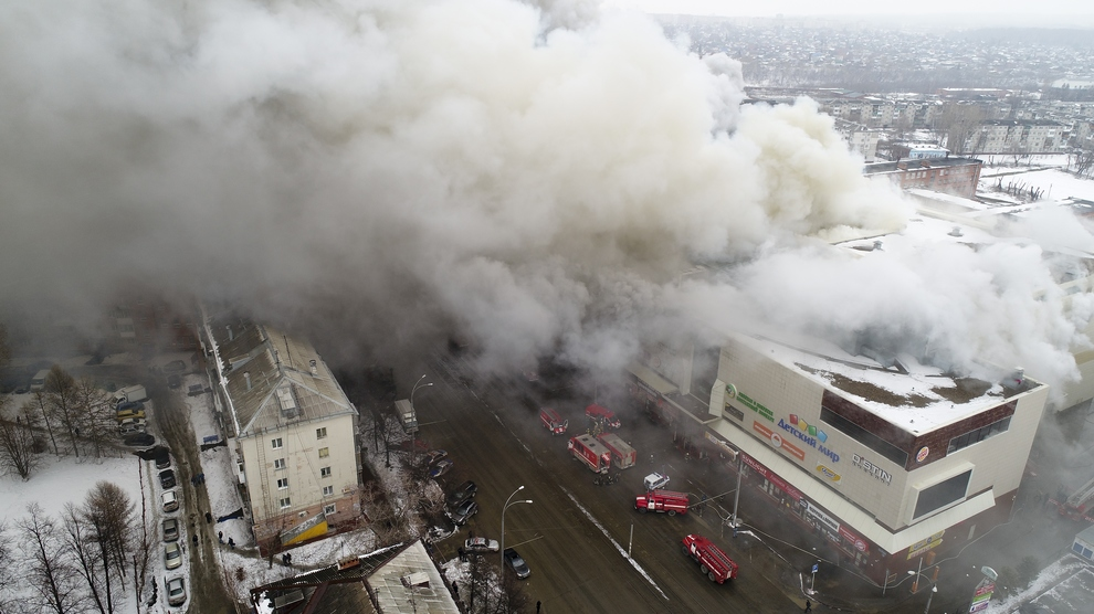 Maxi incendio in centro commerciale in Siberia: 37 morti, 43 feriti