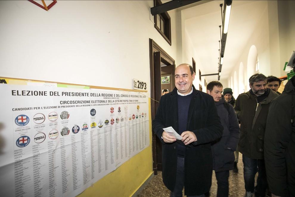 Regione Lazio, la rimonta di mezzo spoglio del presidente Zingaretti