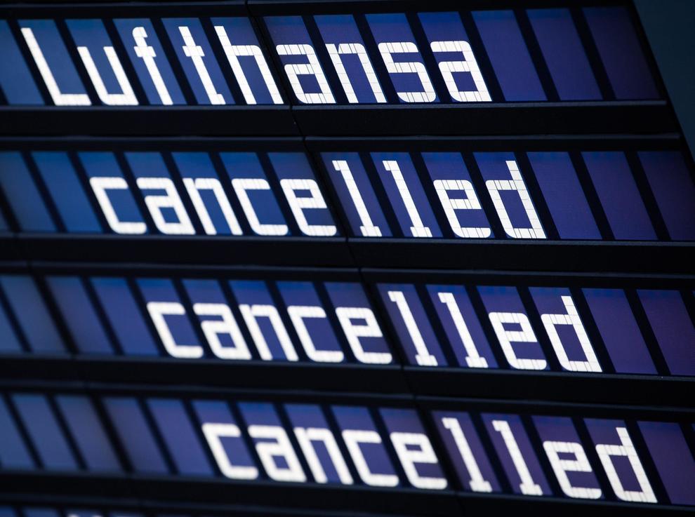 Sciopero Lufthansa, cancellati 800 voli