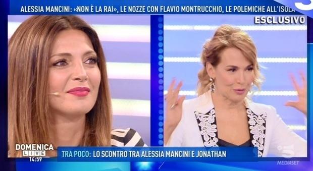 Tensione a Domenica Live tra Alessia Mancini, Cecilia Capriotti e Barbara d'Urso