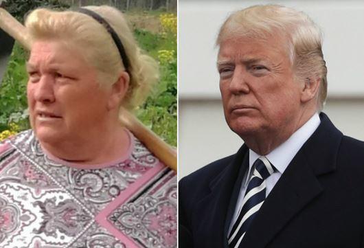Dolores, la contadina sosia di Trump che scatena i social