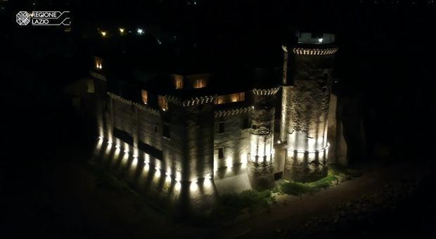 Castello di santa severa da oggi la nuova illuminazione artistica