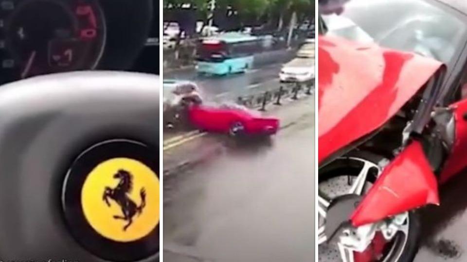 Cina, incidente in Ferrari appena uscita dalla concessionaria: coinvolte altre due auto
