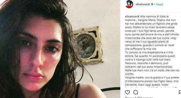 La preghiera di Elisa Isoardi sui social fa discutere