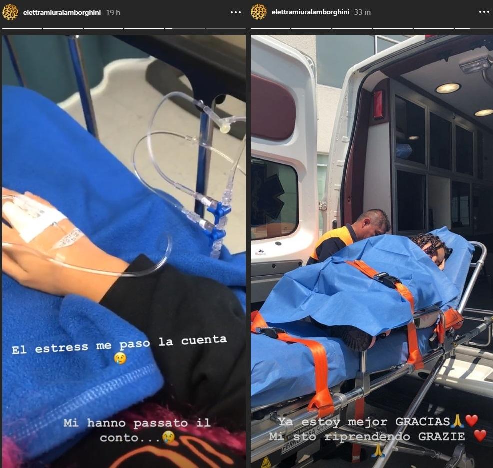 Elettra Lamborghini ricoverata in ospedale