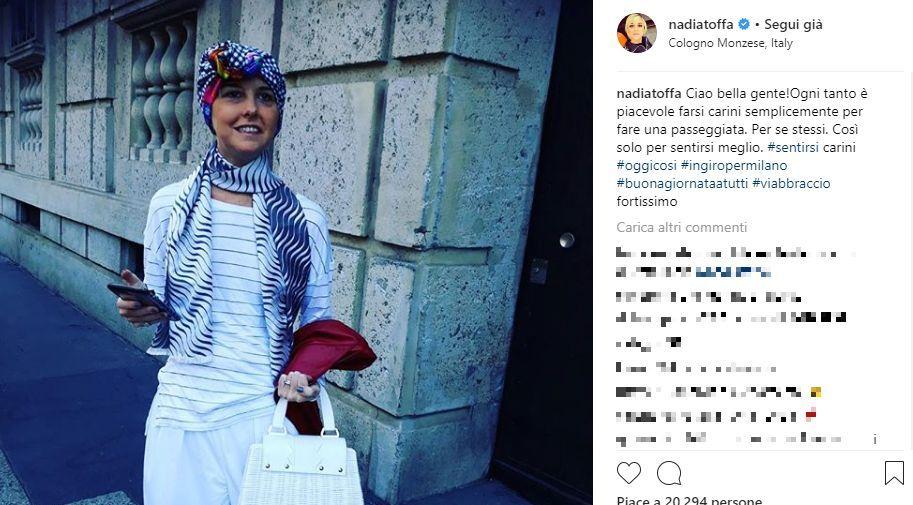 Nadia Toffa torna sui social