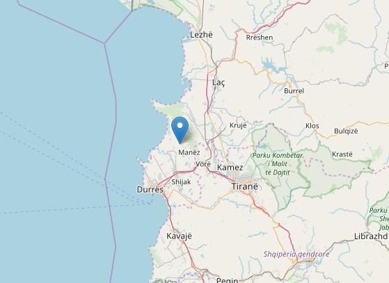 C'è stato un terremoto di magnitudo 5.1 a nord di Durazzo, in Albania