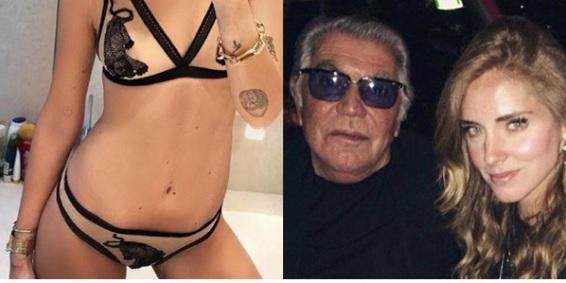 timeless design 5da0c 3ba9d Chiara Ferragni, Roberto Cavalli critica la foto nuda. Fedez ...