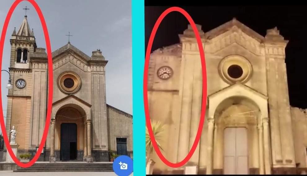 Catania, crolla la statua del santo protettore dai ...