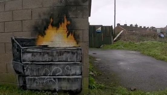 Banksy nuova opera a Port Talbot in Galles: