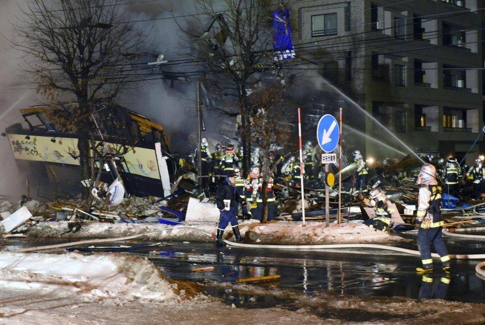 Violenta esplosione in un ristorante a Sapporo