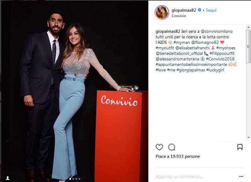 Giorgia Palmas, le foto col pancino sospetto mentre passeggia con Filippo Magnini