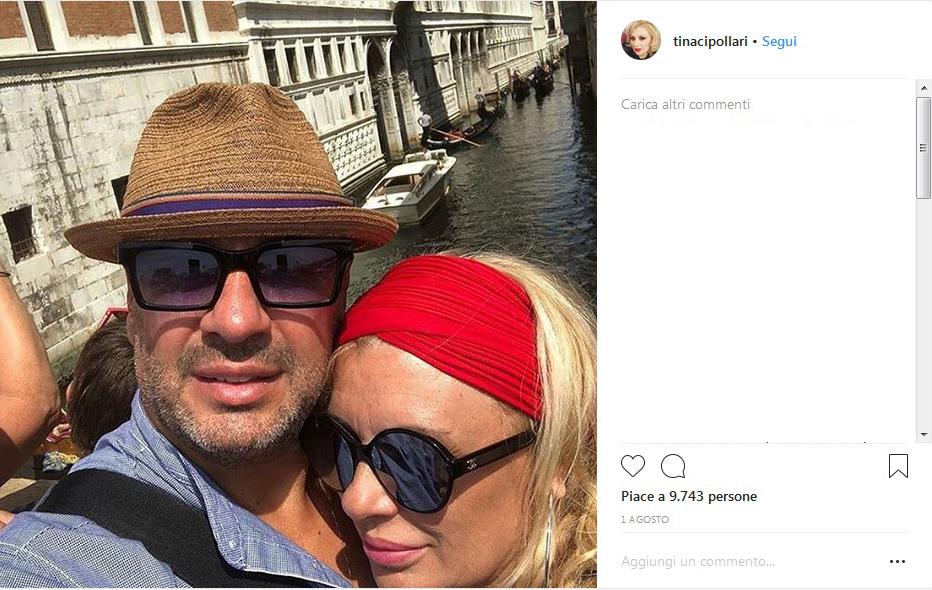 Tina Cipollari trasloca col suo amore Vicenzo