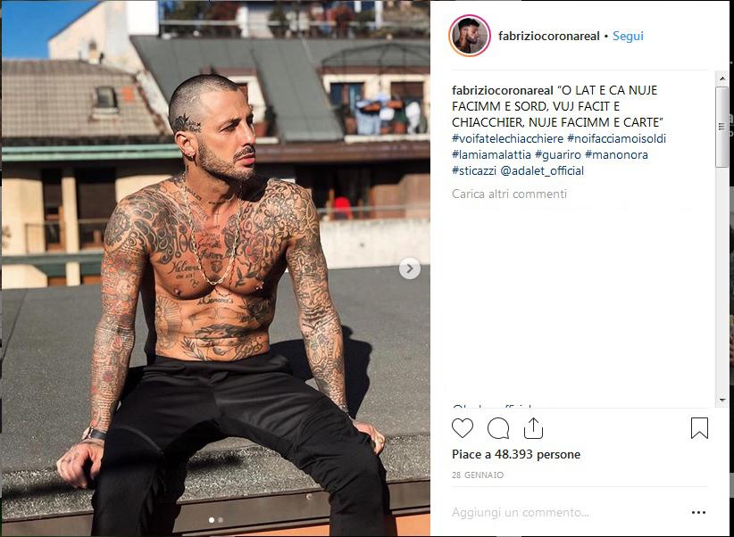 Insulti al figlio di Fabrizio Corona: interviene anche la Rodriguez
