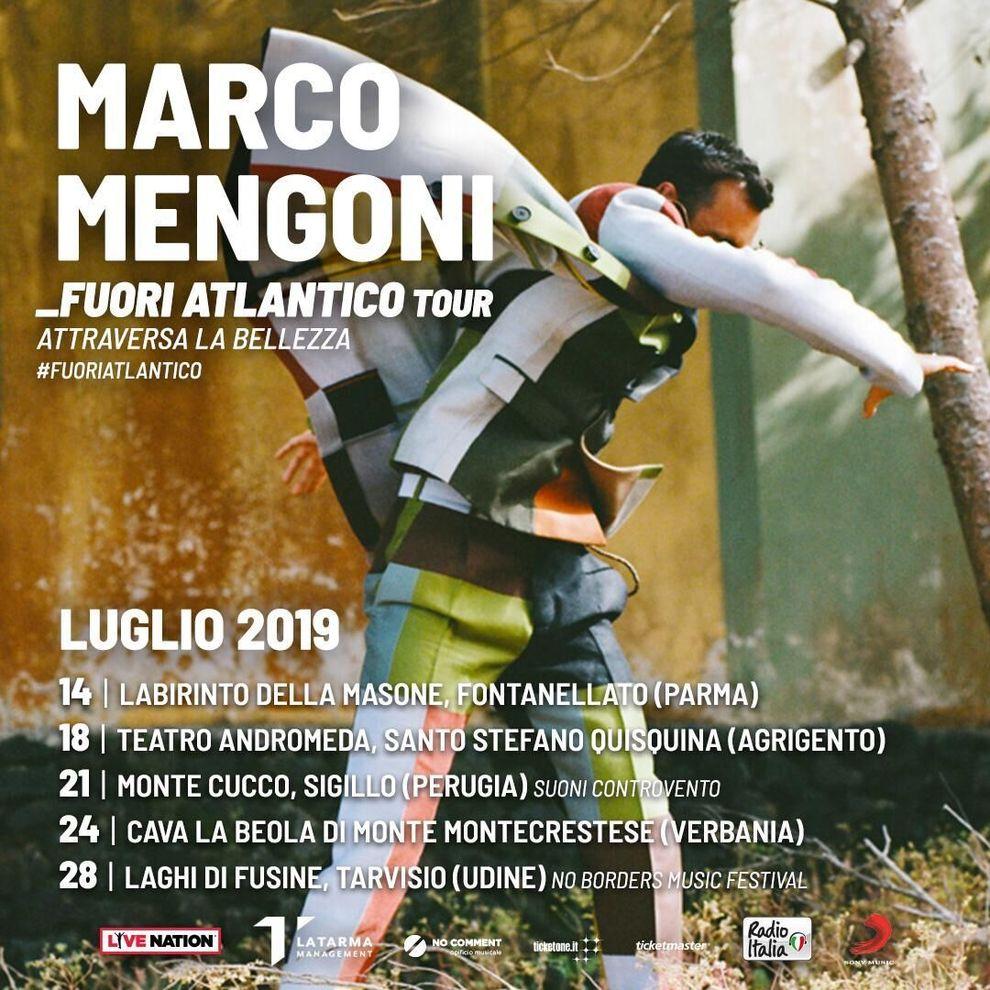 Marco Mengoni: 5 date live alla scoperta delle bellezze italiane