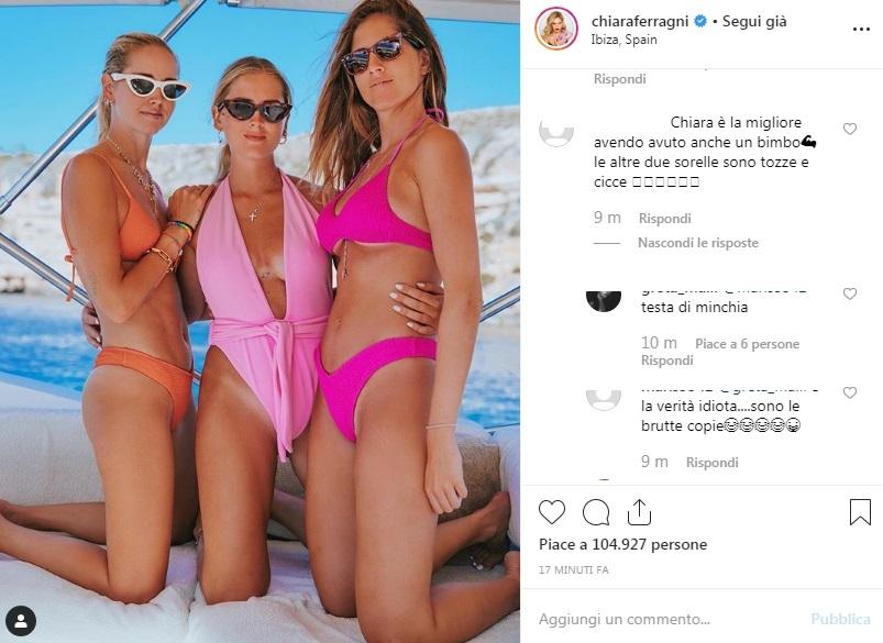 64033c8faa92 Chiara Ferragni, le sorelle Valentina e Francesca attaccate per la ...