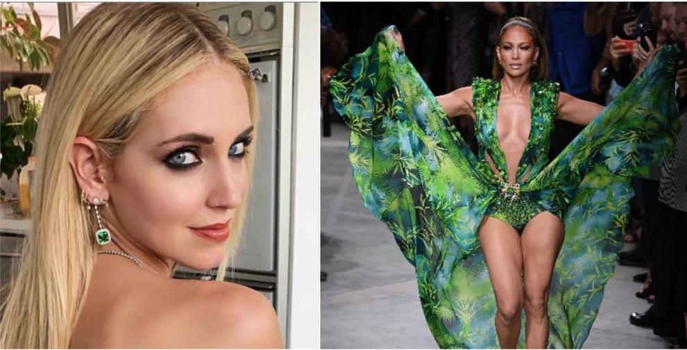 vasta selezione di 2359f 49c4c Jennifer Lopez sfila con l'abito Versace: Chiara Ferragni ...