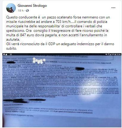 Maxi multa di 900 euro perché viaggiava a 703 km/h: autovelox impazzito a Osimo